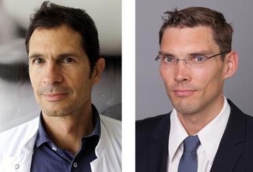 Prof. Carlos Schönfeldt-Lecuona (links) und Prof. Maximilian Gahr (rechts)