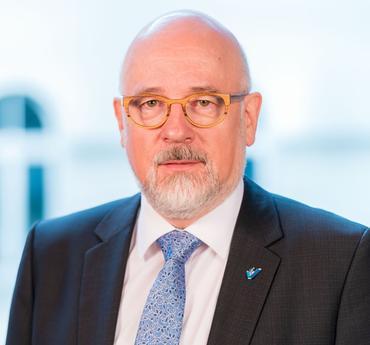 Dr. Dirk Heinrich ist Bundesvorsitzender des Virchowbundes und niedergelassener <span>HNO</span>-Arzt.