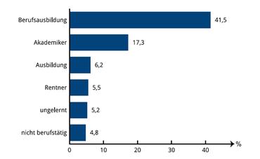 Abbildung 3: Verteilung nach Berufsgruppen <sup>2</sup>