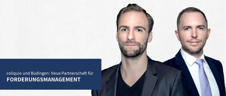 Tobias Salzmann von Büdingen und coliquio <span>CEO</span> Felix Rademacher: Aus einem Gespräch über Mahnprozesse entstand spontan die Idee, coliquio Mitglieder bei unbezahlten Honorarforderungen zu unterstützen.